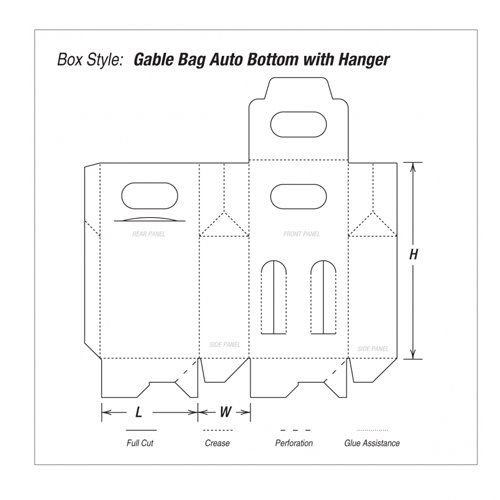 Gable Bag Auto Bottom with Hanger